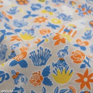 【cotton】Moomin fabrics|ムーミン|コットンシーチング|ライトグレー|