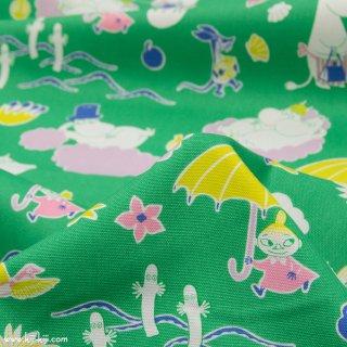 【cotton】Moomin fabrics|ムーミン|コットンオックス|グリーン|