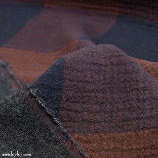 【cotton wool】cotton wool big check|ふんわりコットン&ウールガーゼ|ネイビー|