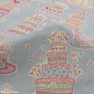 【cotton linen】HAPPY BIRTHDAY !|コットンリネンキャンバス|カワグチミヤコデザイン|ミズイロ|