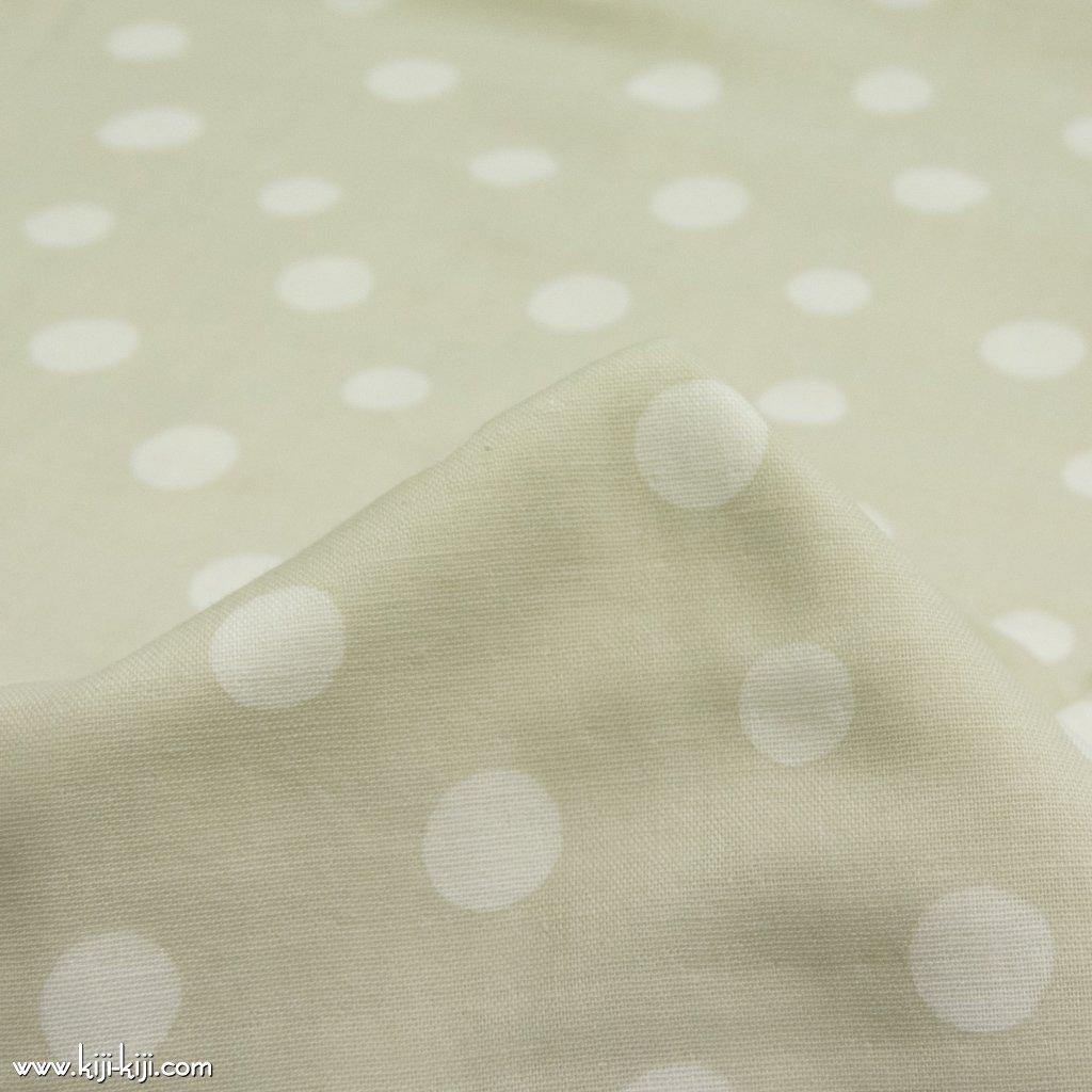 【wg】snow dotのコットンダブルガーゼ|ダブルガーゼ|ライトグレージュ|