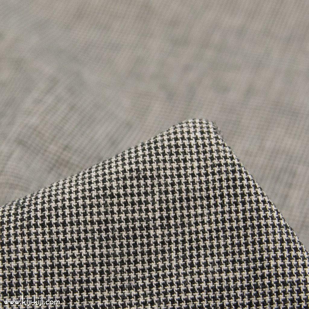【cotton linen】西脇で織られたコットンリネンのモノトーンチェック|コットンリネン|千鳥格子|
