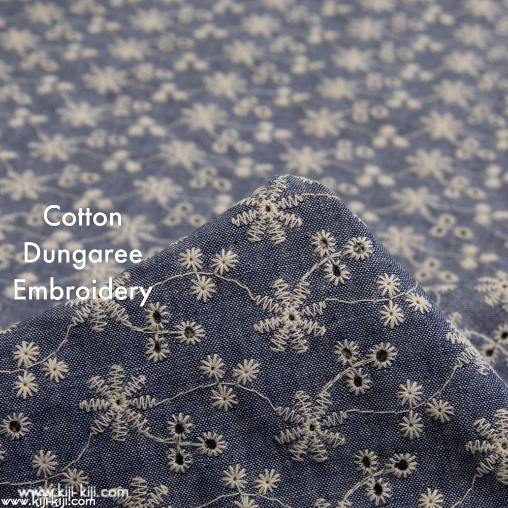 【SALE】【レース】snow flower dungaree lace|ダンガリーレース|刺繍|ネイビー|<img class='new_mark_img2' src='https://img.shop-pro.jp/img/new/icons20.gif' style='border:none;display:inline;margin:0px;padding:0px;width:auto;' />