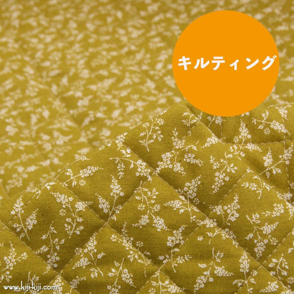 【キルティング】【cotton linen】natural flowers|ナチュラルフラワーズ|花柄|ダークマスタード|<img class='new_mark_img2' src='https://img.shop-pro.jp/img/new/icons5.gif' style='border:none;display:inline;margin:0px;padding:0px;width:auto;' />