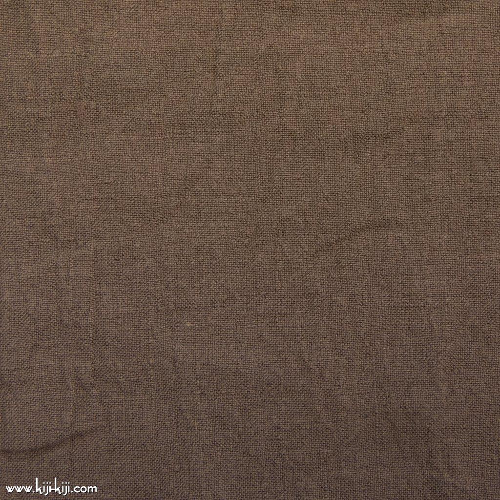【linen】くったり仕上げの60リネン|職人さんが丁寧に仕上げました|スモークブラウン|
