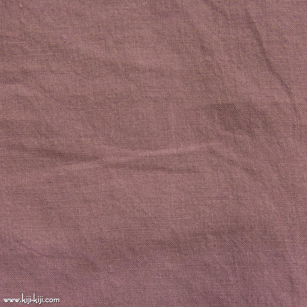 【linen】くったり仕上げの60リネン|職人さんが丁寧に仕上げました|スモークピンク|