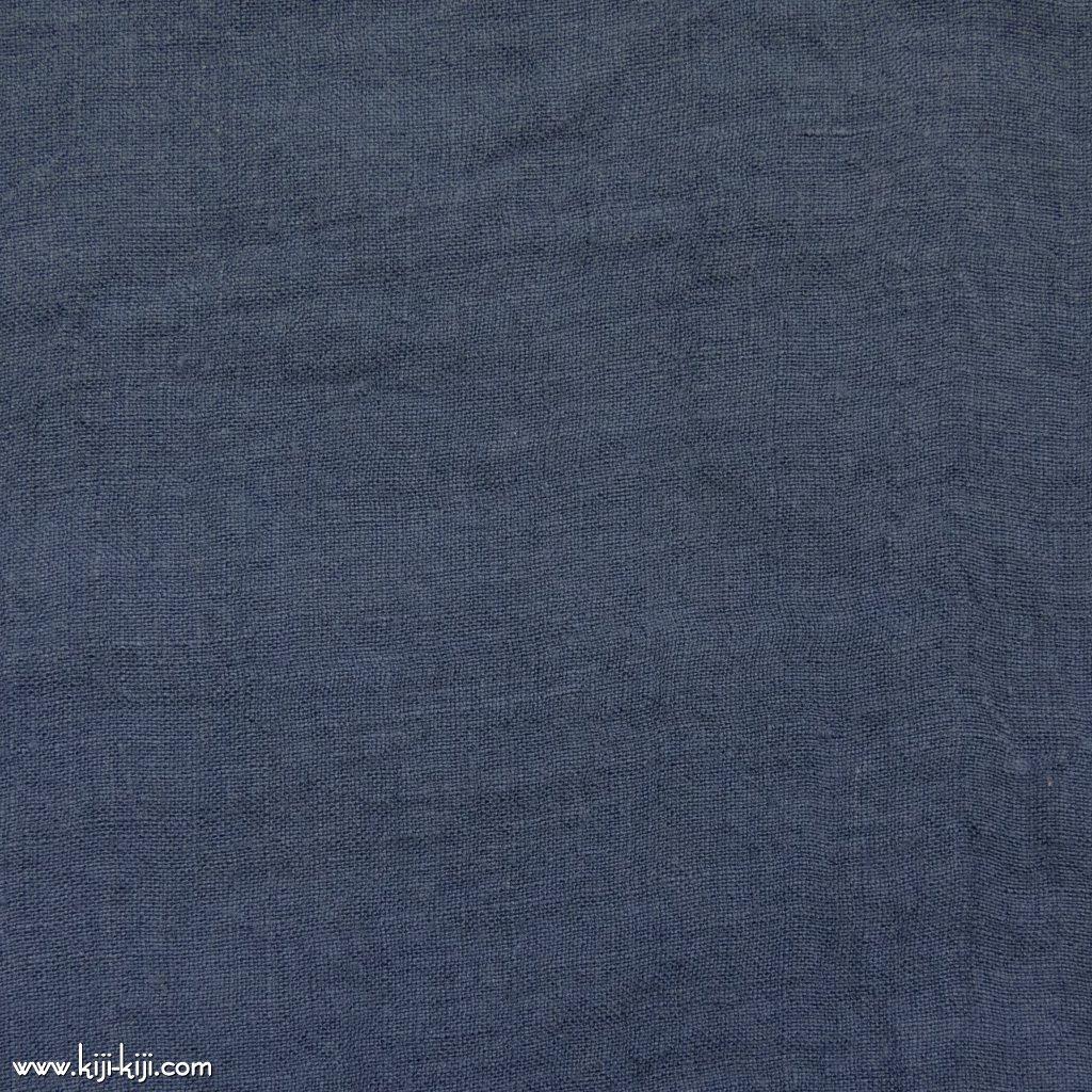 【linen】くったり仕上げの60リネン|職人さんが丁寧に仕上げました|ライトネイビー|