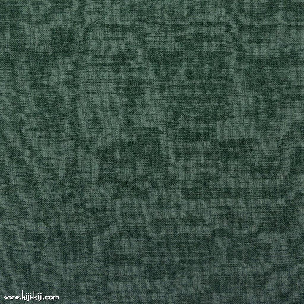 【linen】くったり仕上げの60リネン|職人さんが丁寧に仕上げました|スモークグリーン|
