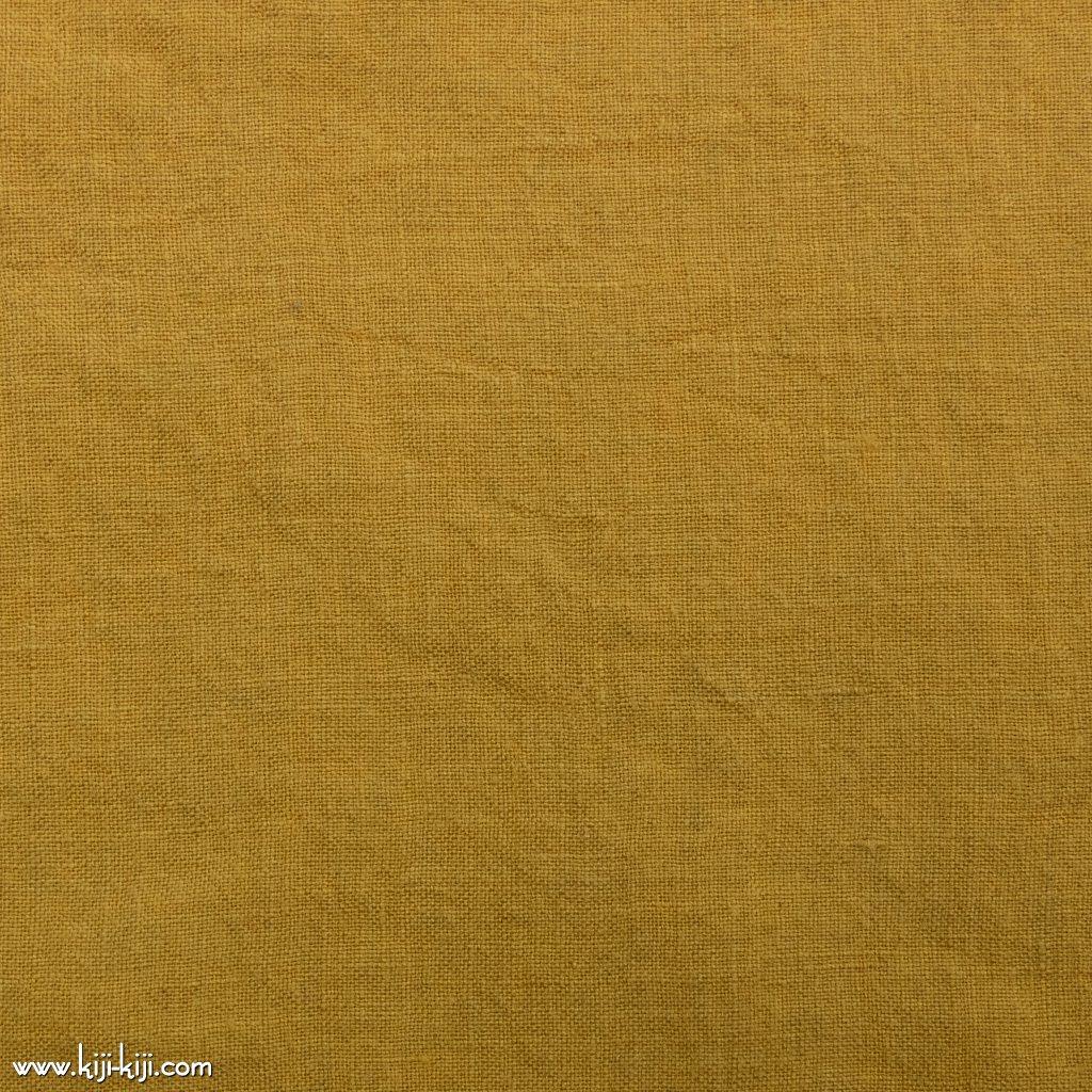 【linen】くったり仕上げの60リネン|職人さんが丁寧に仕上げました|スモークイエロー|