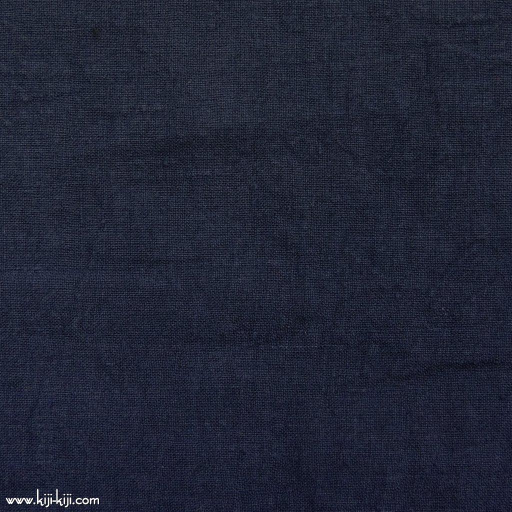 【linen】くったり仕上げの60リネン|職人さんが丁寧に仕上げました|ネイビー|