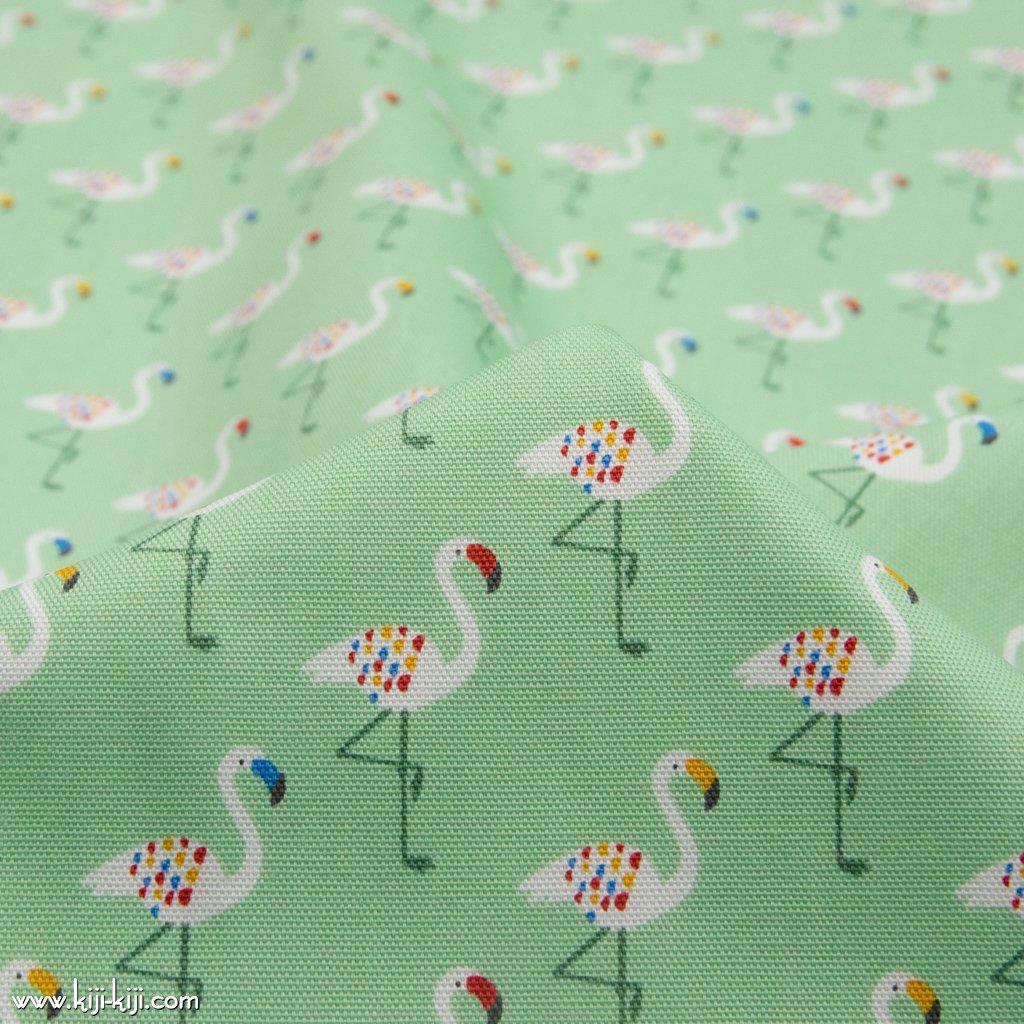 【cotton】 colorful flamingo カラフルフラミンゴ フラミンゴ柄 コットンオックス ペールミント 