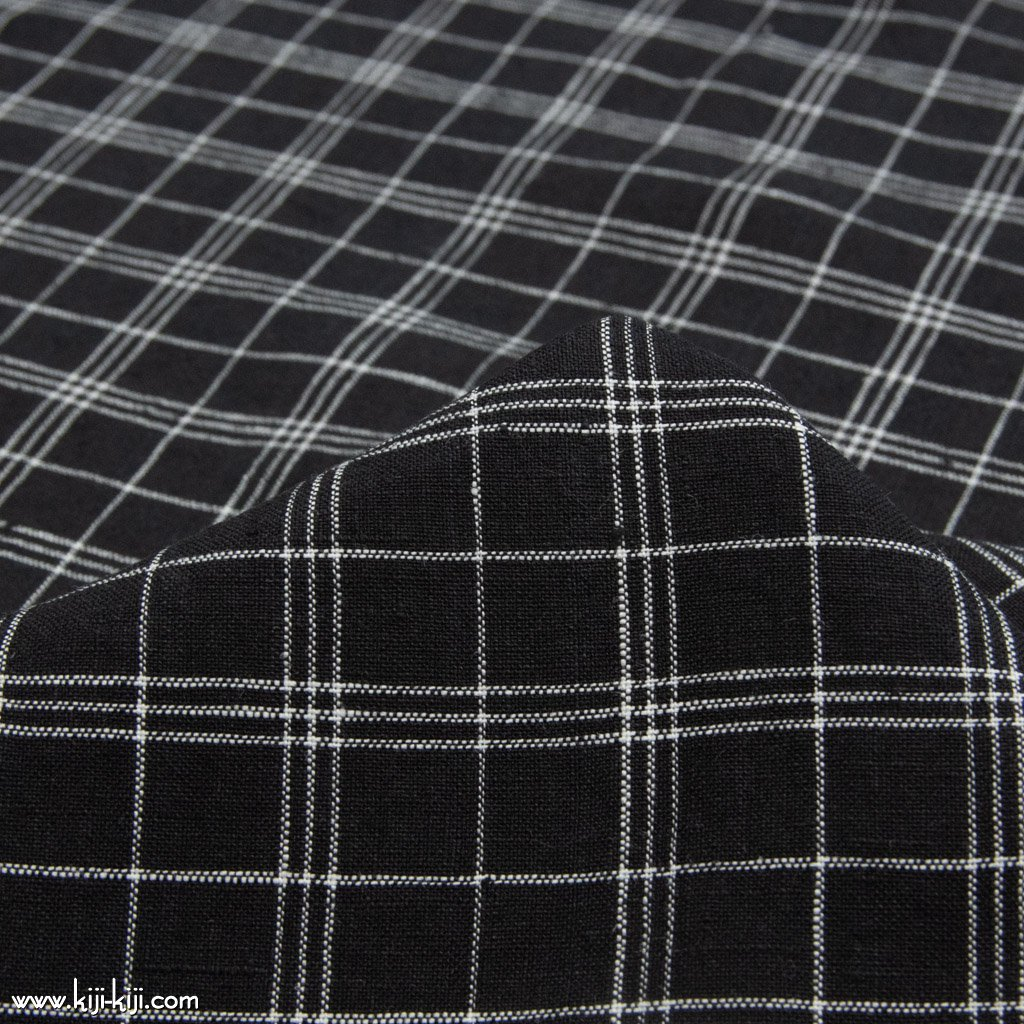 【sale】【linen】black check linen|ブラックチェックリネン|140cm巾|リネン100%|細チェック|<img class='new_mark_img2' src='https://img.shop-pro.jp/img/new/icons20.gif' style='border:none;display:inline;margin:0px;padding:0px;width:auto;' />