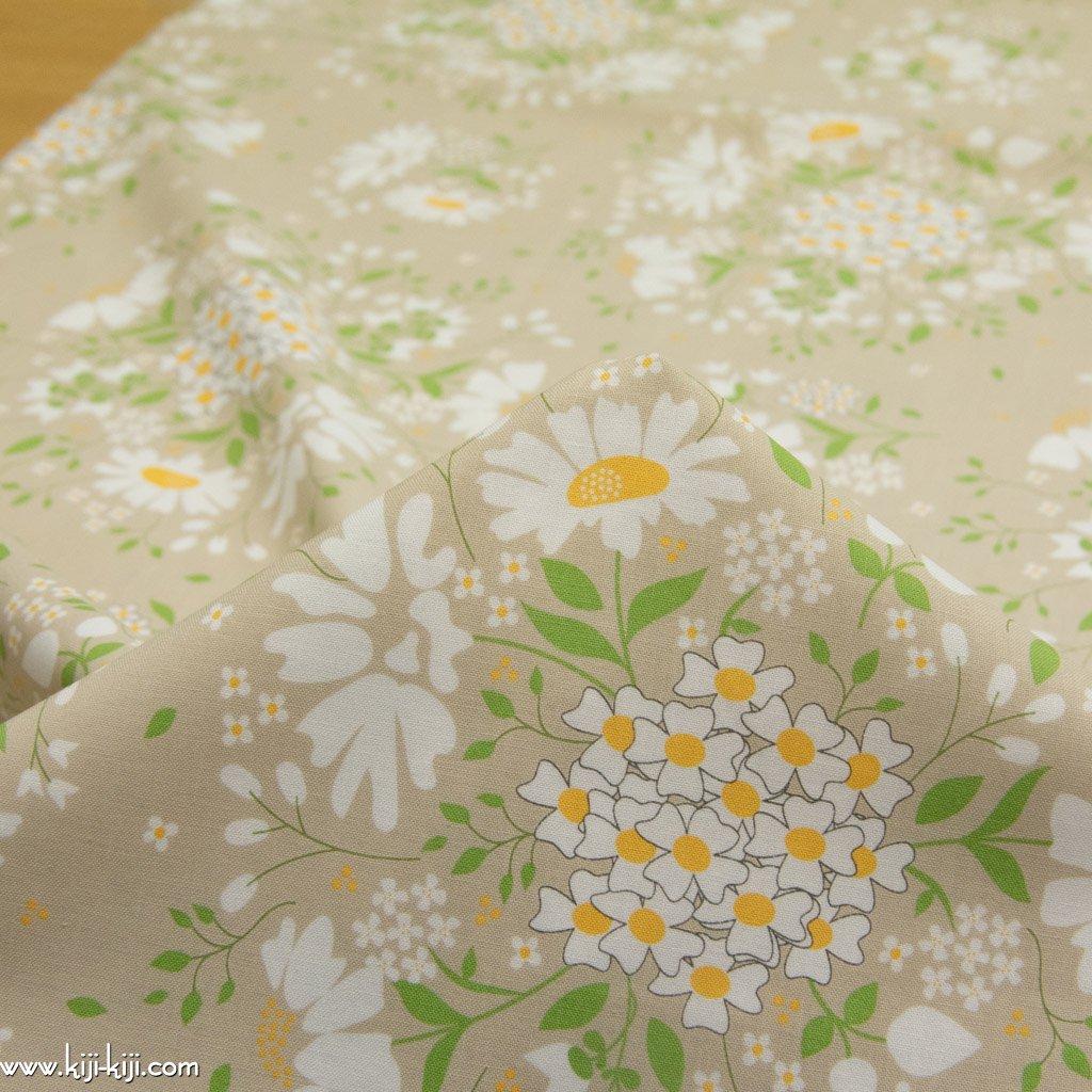 【USAコットン】spring brook|春の花たち|コットンシーチング|moda社|ベージュ|