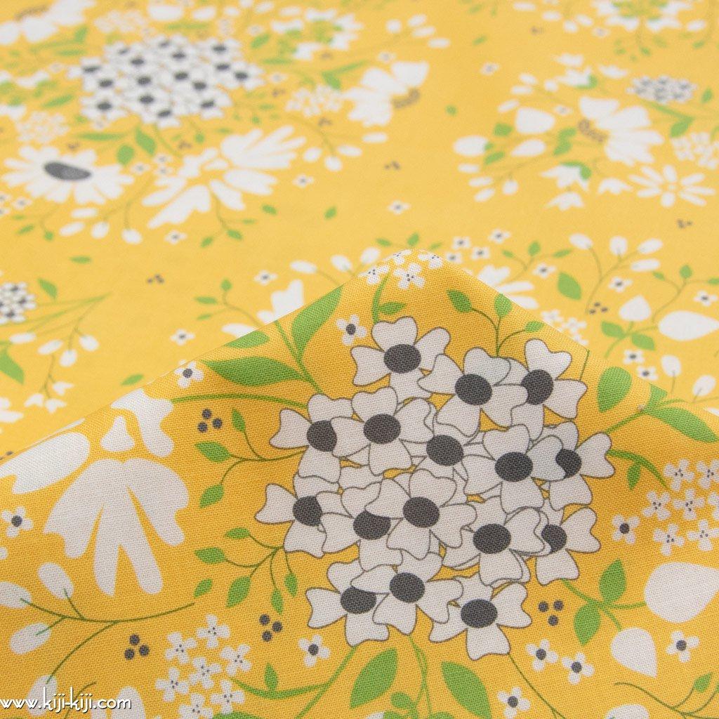 【USAコットン】spring brook|春の花たち|コットンシーチング|moda社|ソフトイエロー|