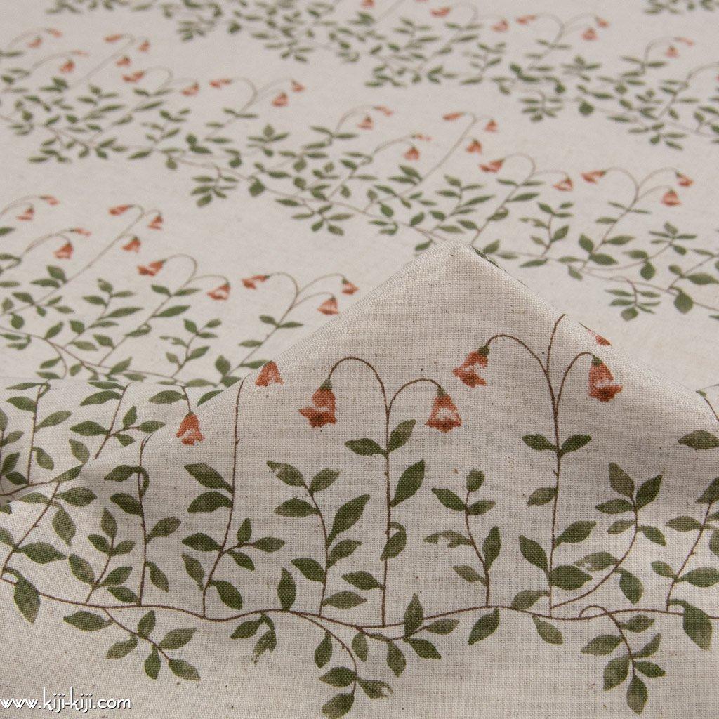 【cotton linen】flower bell|フラワーベル|やわらかコットンリネンシーチング|ナチュラル|