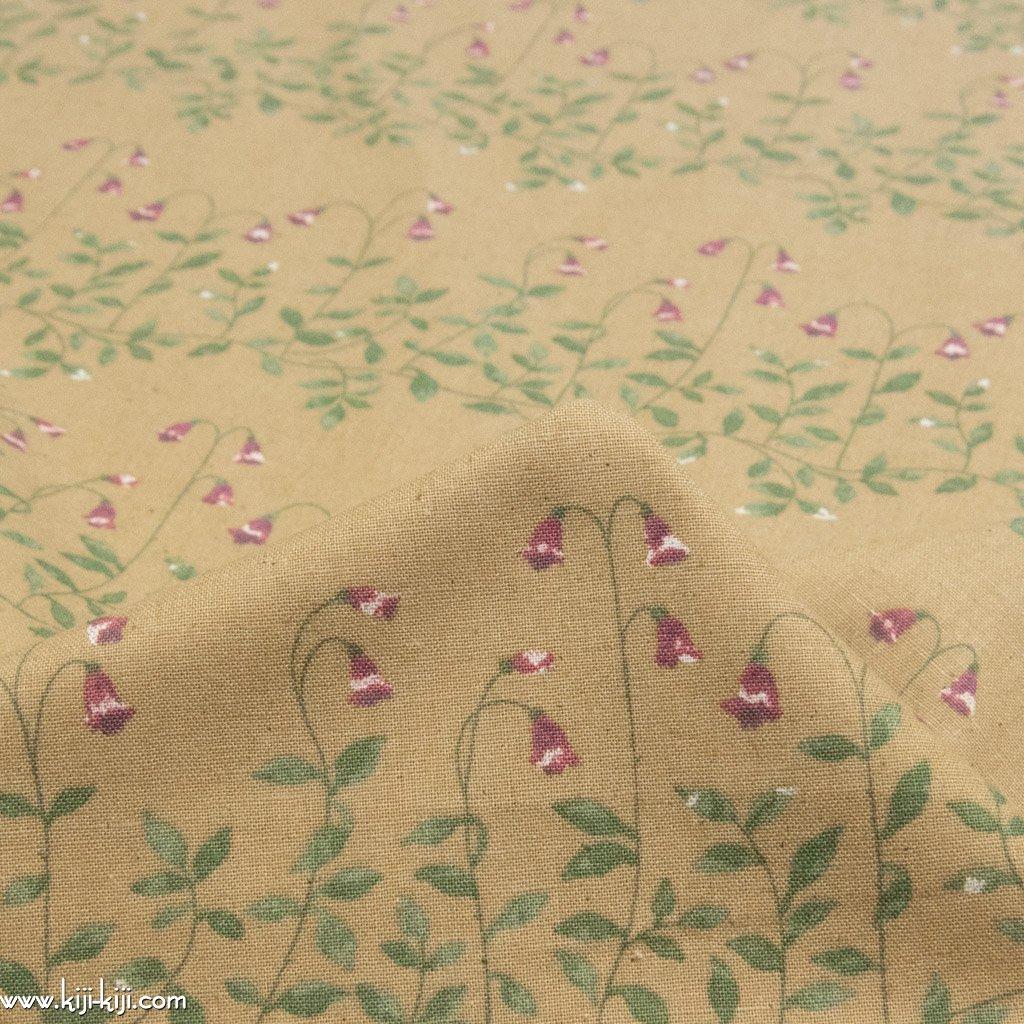 【cotton linen】flower bell|フラワーベル|やわらかコットンリネンシーチング|スモークオーカー|