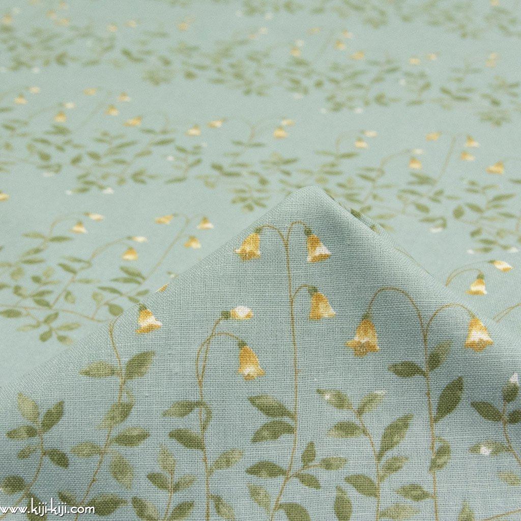 【cotton linen】flower bell|フラワーベル|やわらかコットンリネンシーチング|スモークブルー|