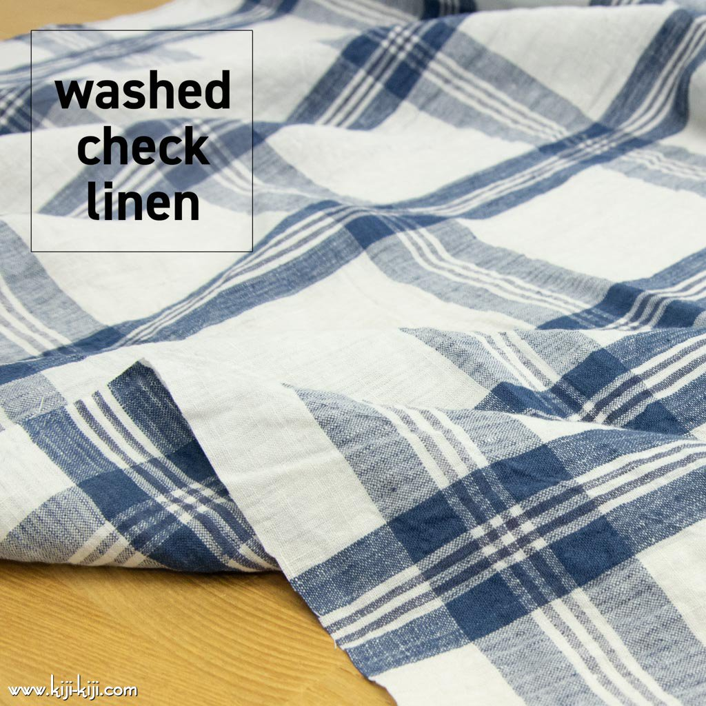 【sale】【数量限定】WASHED CHECK LINEN |ウォッシュド加工|ブルーネイビー|<img class='new_mark_img2' src='https://img.shop-pro.jp/img/new/icons20.gif' style='border:none;display:inline;margin:0px;padding:0px;width:auto;' />