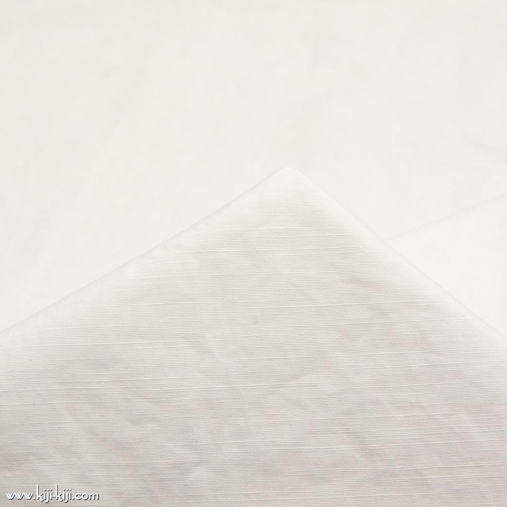 【cotton linen】cotton linen slub typewriter|コットンリネンスラブタイプライター|タンブラー加工|オフホワイト|