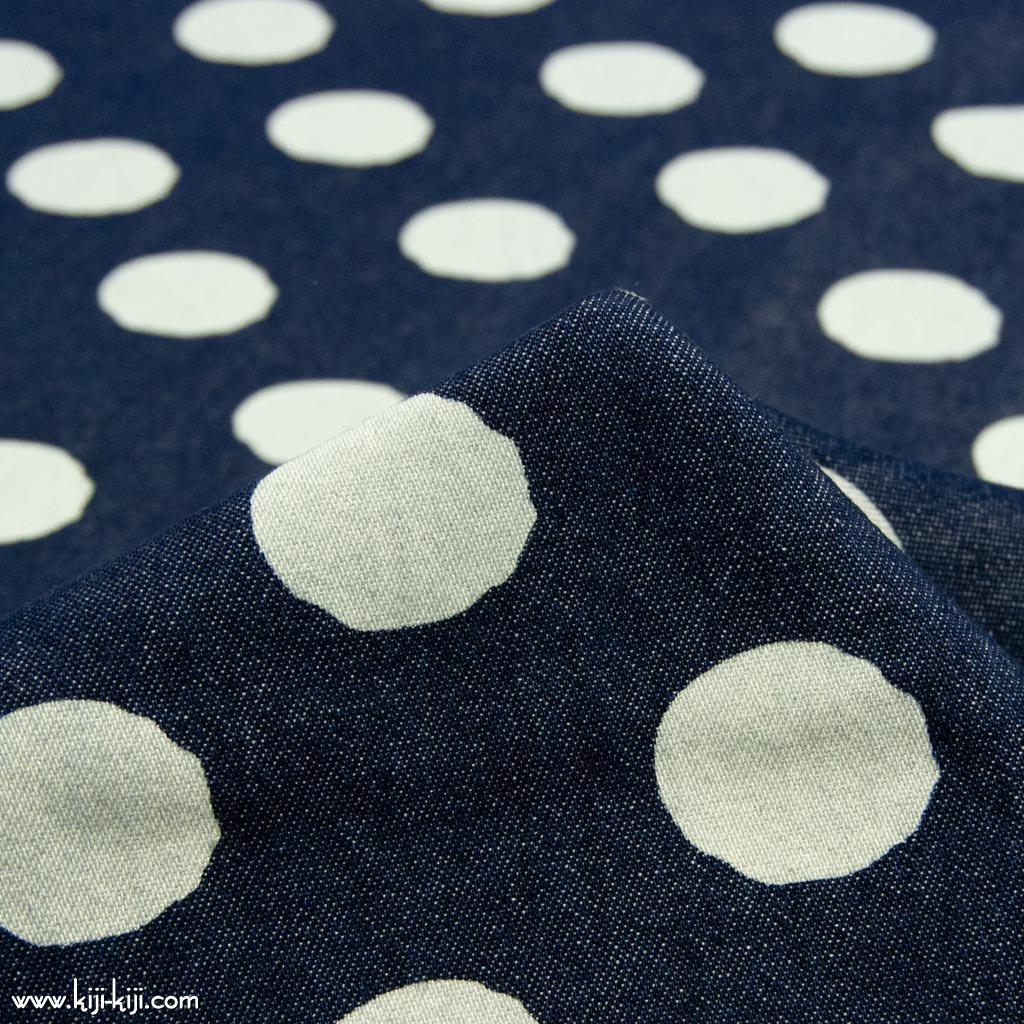【8オンスデニム】indigo denim dot print|インディゴデニムドットプリント|8オンスデニム|ワンウォッシュ|