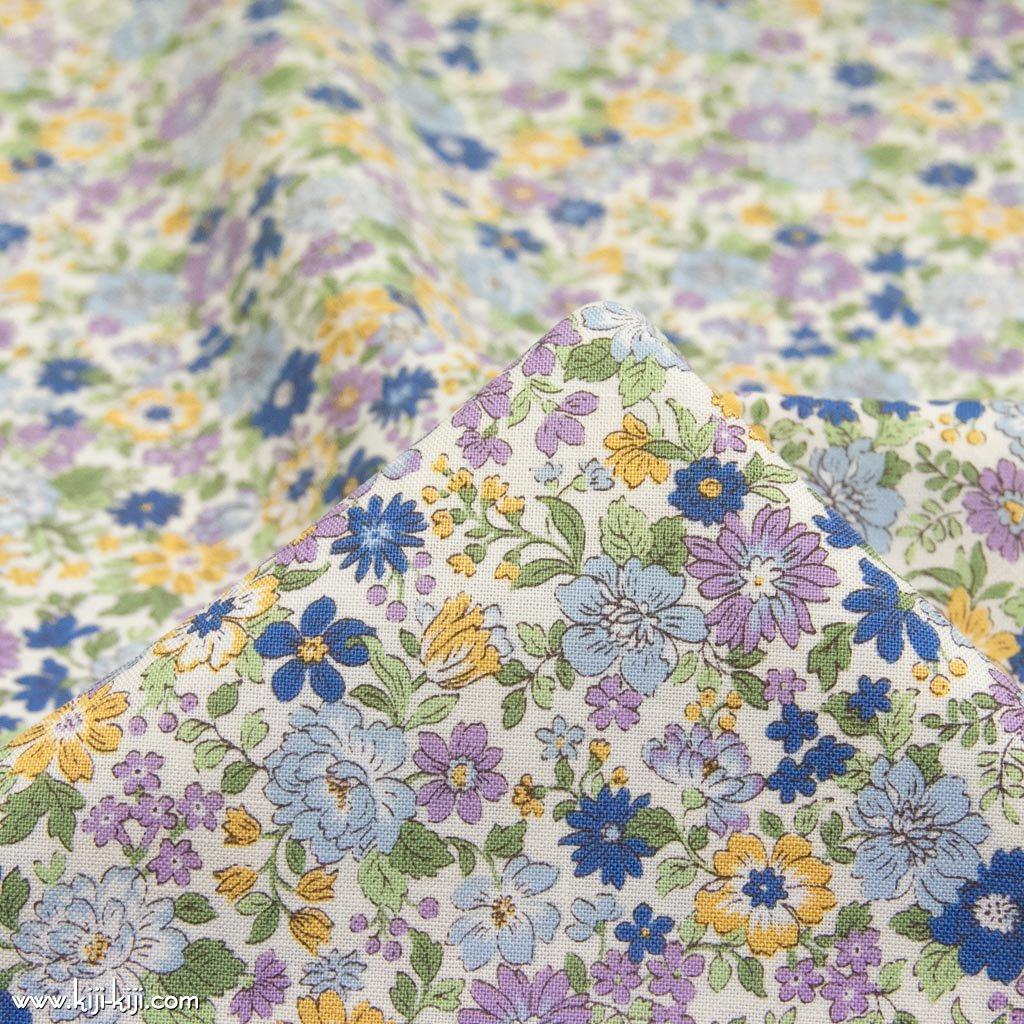 【コットンシーチング】blooming garden|ブルーミングガーデン|コットンシーチング|ラベンダーネイビー|