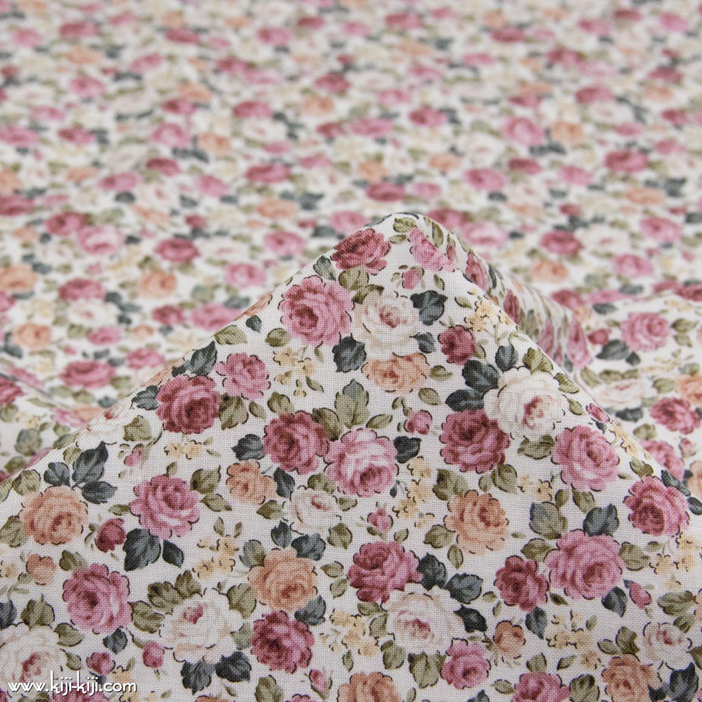 【cotton】classical rose garden|クラシカルローズガーデン|コットンスケア|花柄|オフホワイト+スモークレッド|<img class='new_mark_img2' src='https://img.shop-pro.jp/img/new/icons5.gif' style='border:none;display:inline;margin:0px;padding:0px;width:auto;' />