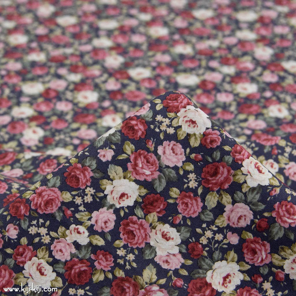 【cotton】classical rose garden|クラシカルローズガーデン|コットンスケア|花柄|クラシックネイビー|<img class='new_mark_img2' src='https://img.shop-pro.jp/img/new/icons5.gif' style='border:none;display:inline;margin:0px;padding:0px;width:auto;' />