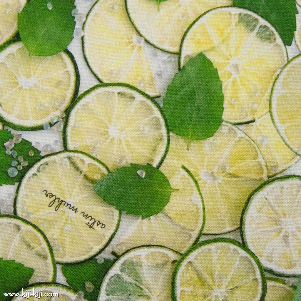 【コットンオックス】Lime Mojito|インクジェットプリント|ライムモヒート|