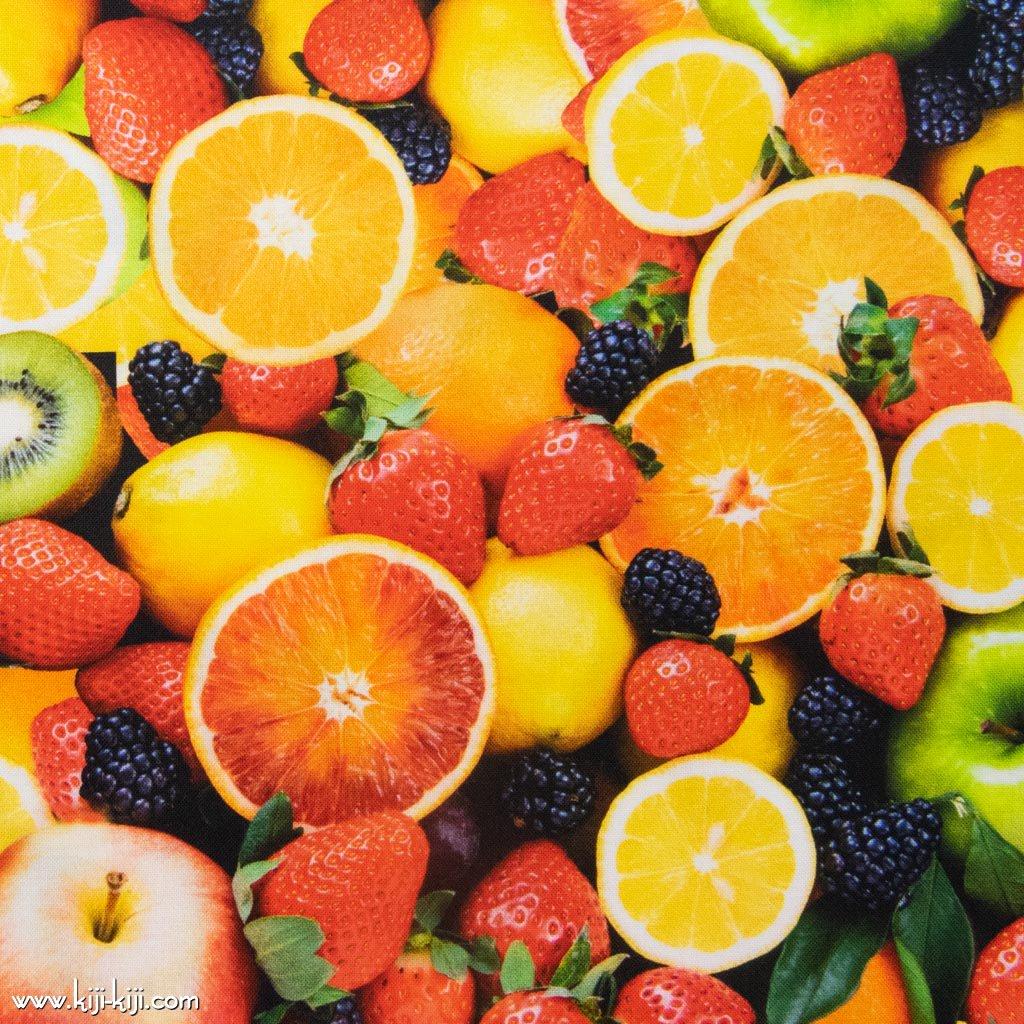 【コットンシーチング】Mix Berry|インクジェットプリント|ミックスベリー|