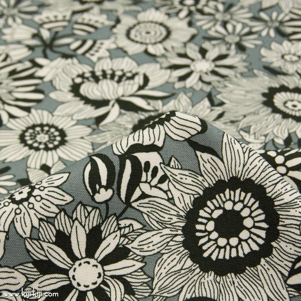 【コットンオックス】black flowers|ブラックフラワーズ|コットンオックス|グレー|<img class='new_mark_img2' src='https://img.shop-pro.jp/img/new/icons5.gif' style='border:none;display:inline;margin:0px;padding:0px;width:auto;' />