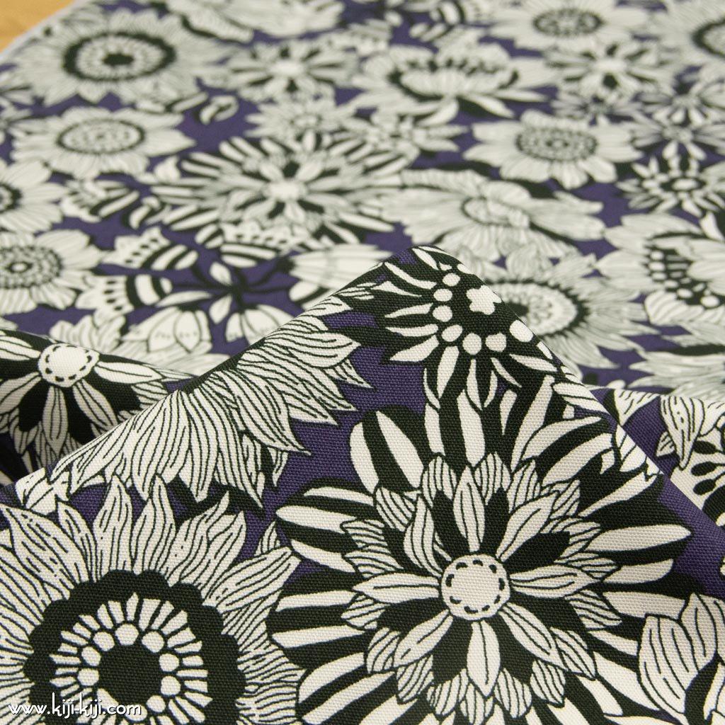 【コットンオックス】black flowers|ブラックフラワーズ|コットンオックス|パープル|<img class='new_mark_img2' src='https://img.shop-pro.jp/img/new/icons5.gif' style='border:none;display:inline;margin:0px;padding:0px;width:auto;' />