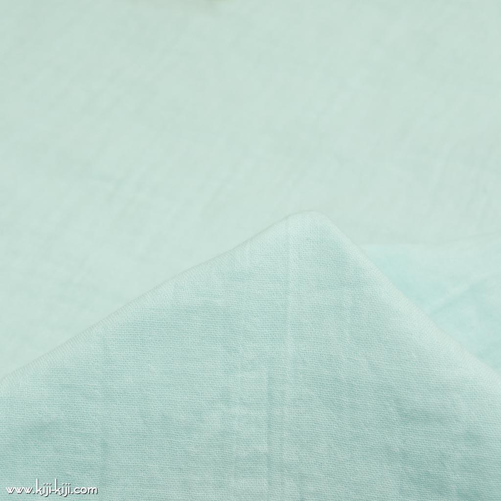 【wg】くったり仕上げのコットンダブルガーゼ ふんわりトリプルワッシャー加工 アクアミント 