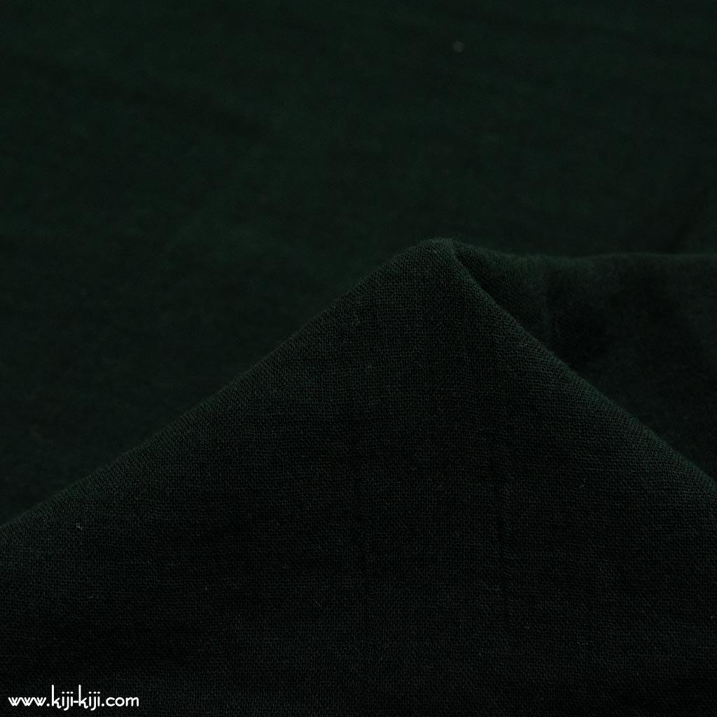 【wg】くったり仕上げのコットンダブルガーゼ ふんわりトリプルワッシャー加工 ブラック 