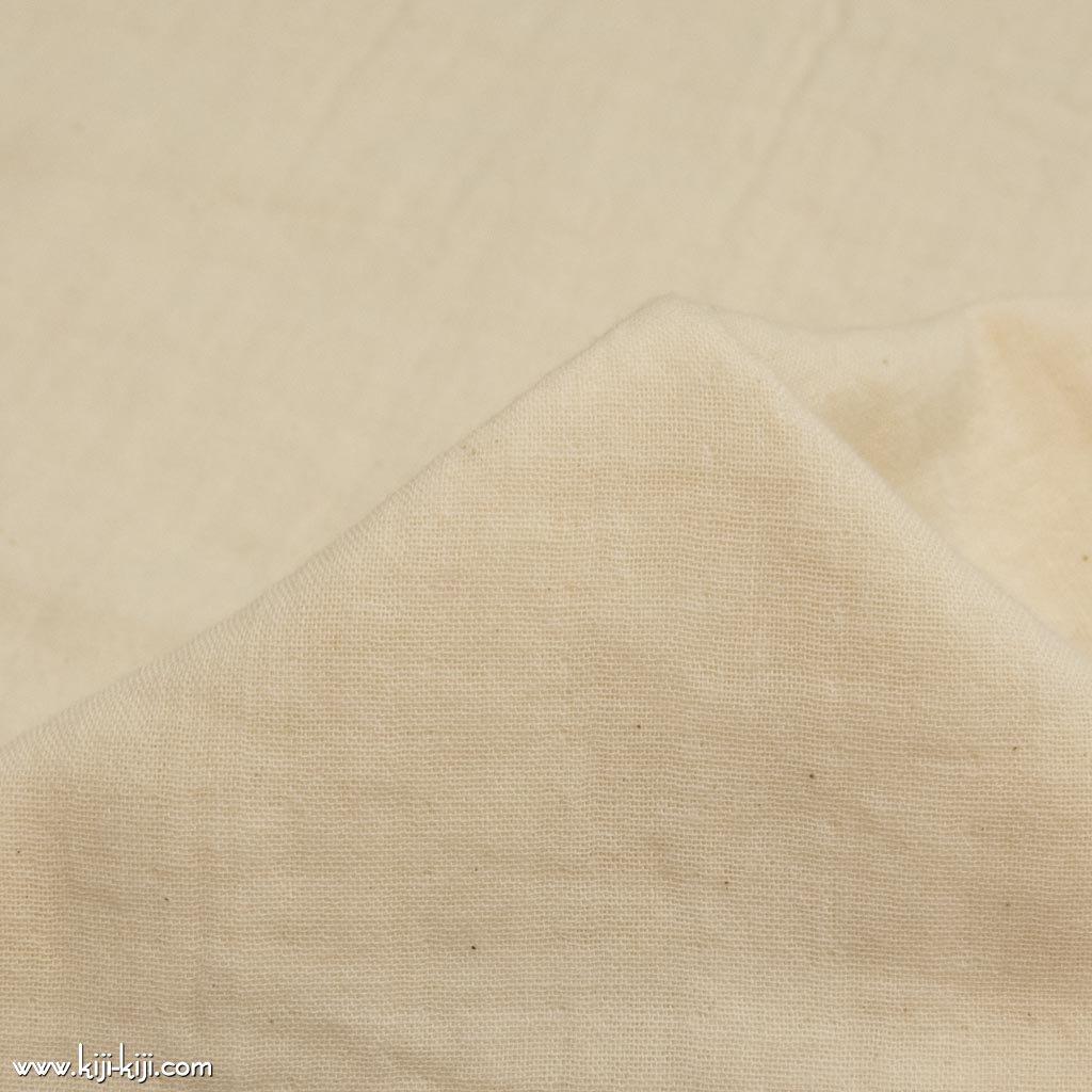 【wg】くったり仕上げのコットンダブルガーゼ ふんわりトリプルワッシャー加工 ナチュラル 