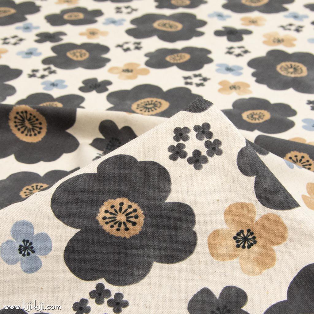 【cotton linen】nordico flowers|ノルディコフラワーズ|北欧風デザイン|花柄生地|コットンリネンキャンバス|ナチュラル|