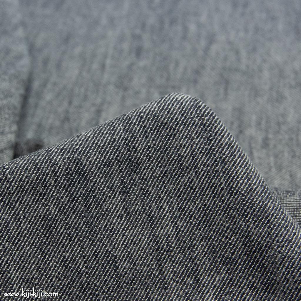 【cotton】ふんわりやわらかく仕上げたコットンデニム|funwari cotton denim|ネイビー|