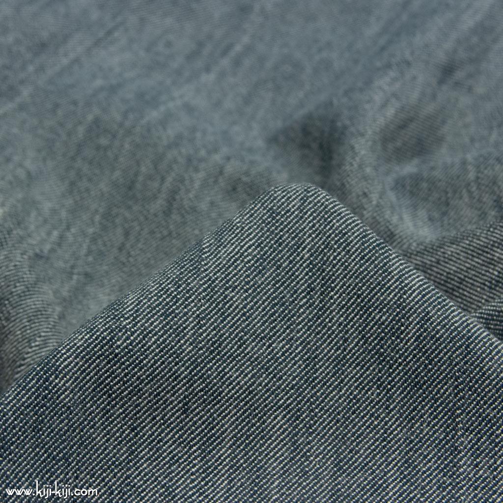 【cotton】ふんわりやわらかく仕上げたコットンデニム|funwari cotton denim|ヴィンテージネイビー|