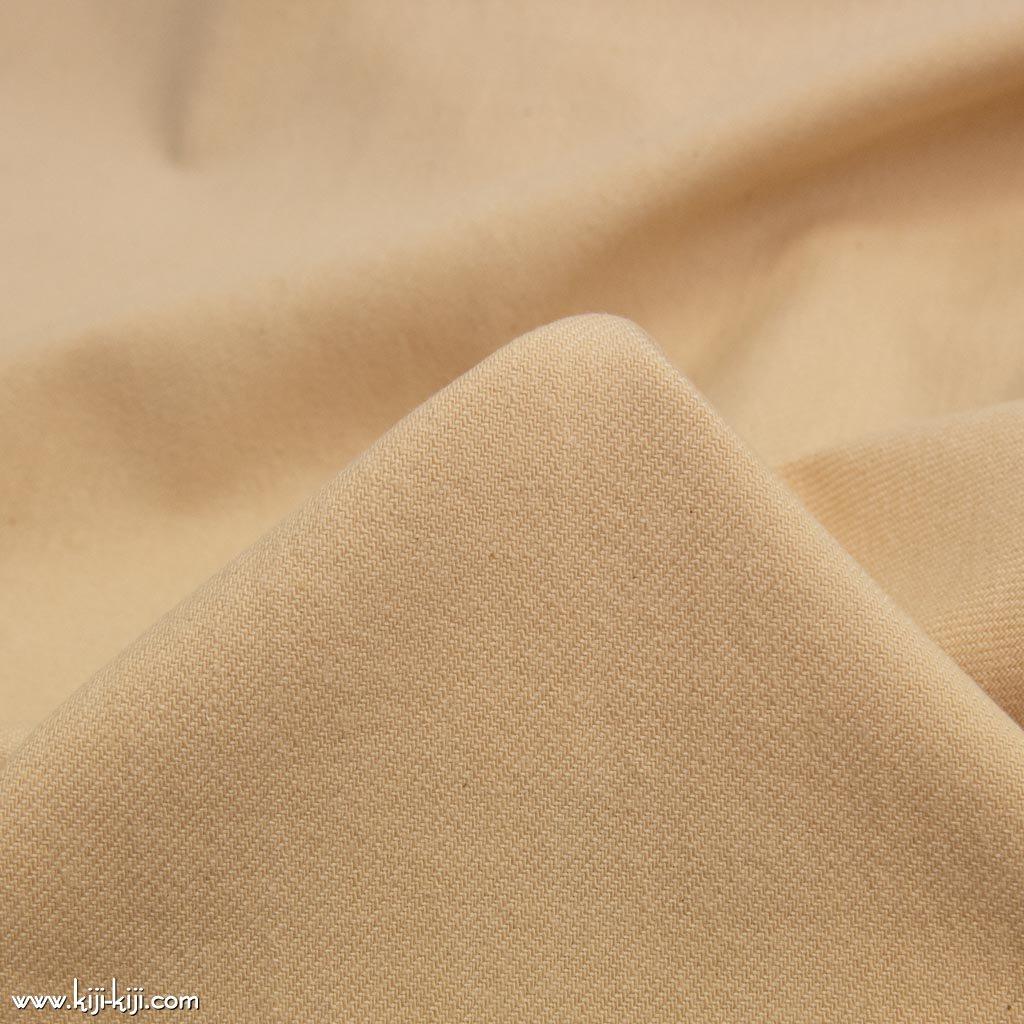 【cotton】ふんわりやわらかく仕上げたコットンデニム|funwari cotton denim|ヌードベージュ|