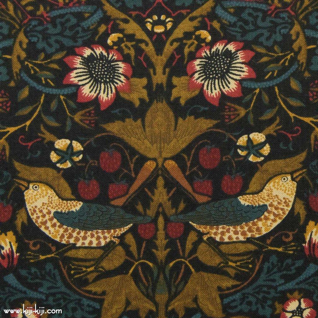 【cotton sheeting】William Morris   STRAWBERRY THIEF   MODA社 ウイリアムモリス イチゴ泥棒 マルチフォール 