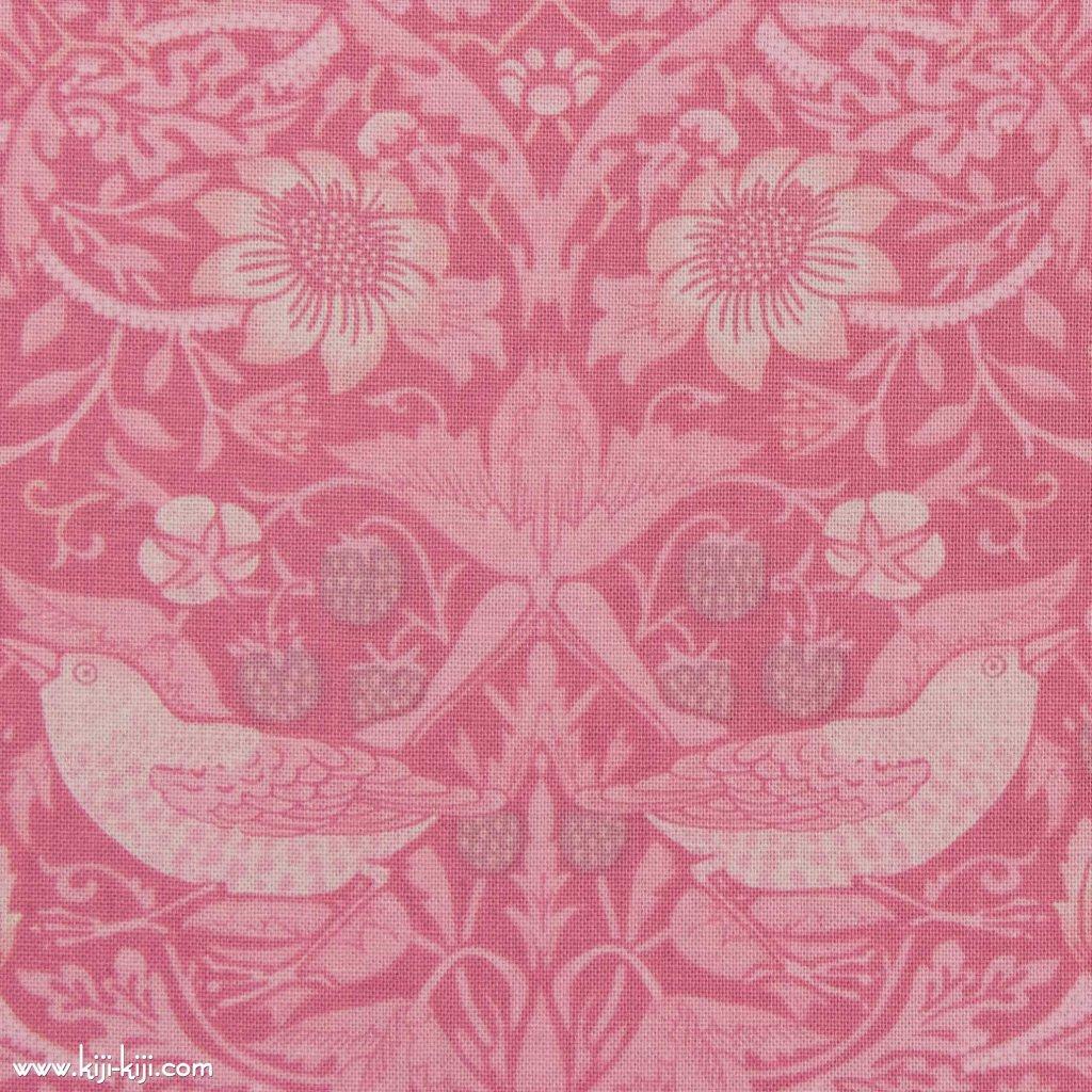 【cotton sheeting】William Morris   STRAWBERRY THIEF   MODA社 ウイリアムモリス イチゴ泥棒 パステルピンク 