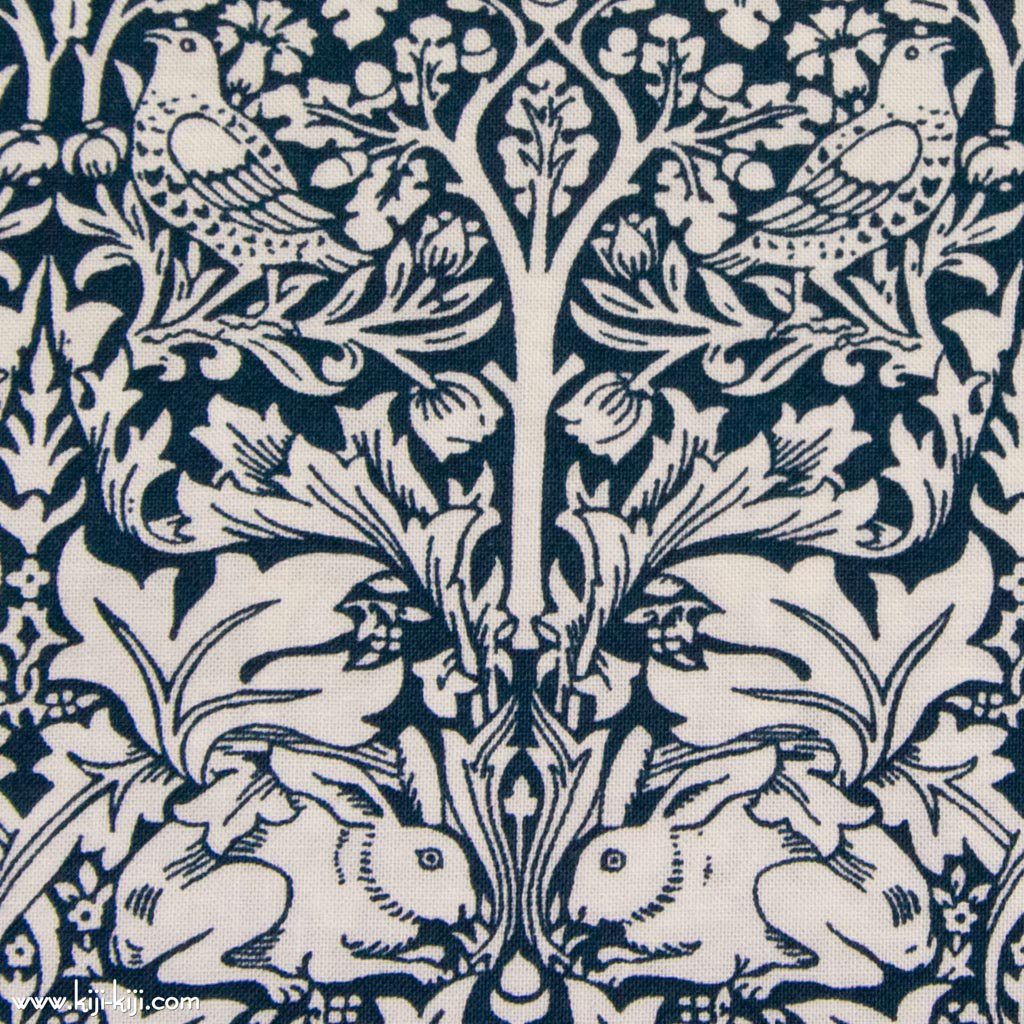 【 cotton sheeting 】 William Morris | Brother Rabbit|MODA社|ウイリアムモリス|ブラザーラビット|インディゴ|<img class='new_mark_img2' src='https://img.shop-pro.jp/img/new/icons29.gif' style='border:none;display:inline;margin:0px;padding:0px;width:auto;' />