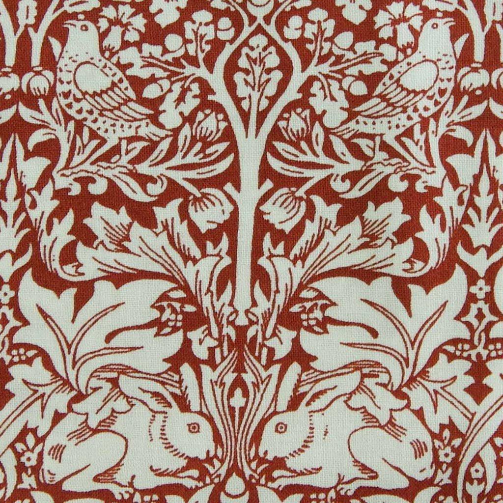 【 cotton sheeting 】 William Morris | Brother Rabbit|MODA社|ウイリアムモリス|ブラザーラビット|フェイデッドレッド|<img class='new_mark_img2' src='https://img.shop-pro.jp/img/new/icons29.gif' style='border:none;display:inline;margin:0px;padding:0px;width:auto;' />