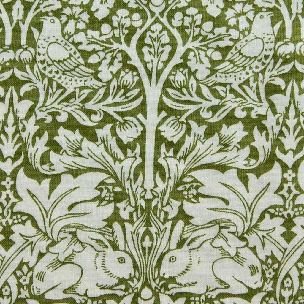 【 cotton sheeting 】 William Morris | Brother Rabbit|MODA社|ウイリアムモリス|ブラザーラビット|オリーブ|<img class='new_mark_img2' src='https://img.shop-pro.jp/img/new/icons29.gif' style='border:none;display:inline;margin:0px;padding:0px;width:auto;' />