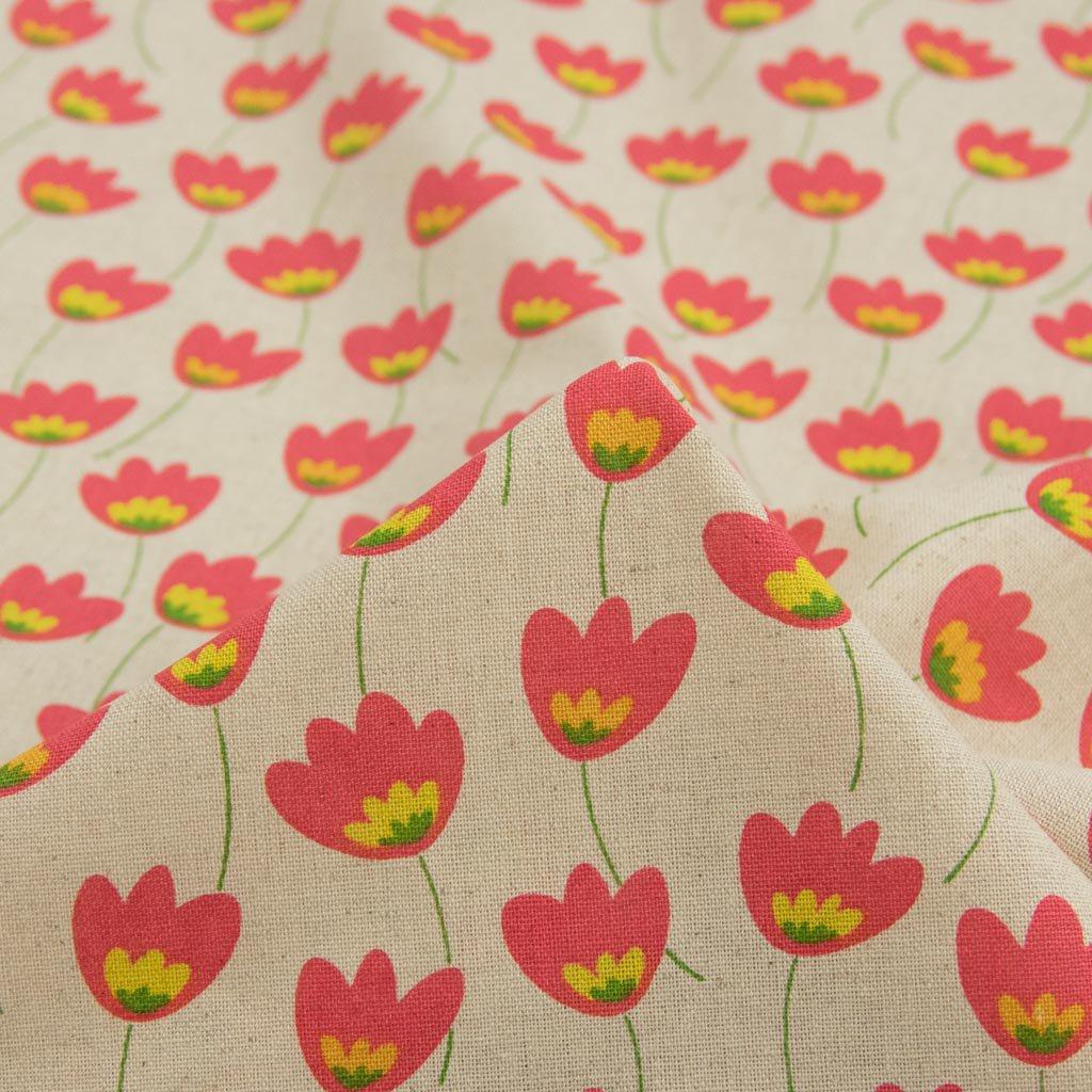 【cotton linen】Plants plants cotton linen canvas プランツプランツ コットンリネンキャンバス ナチュラルピンク 