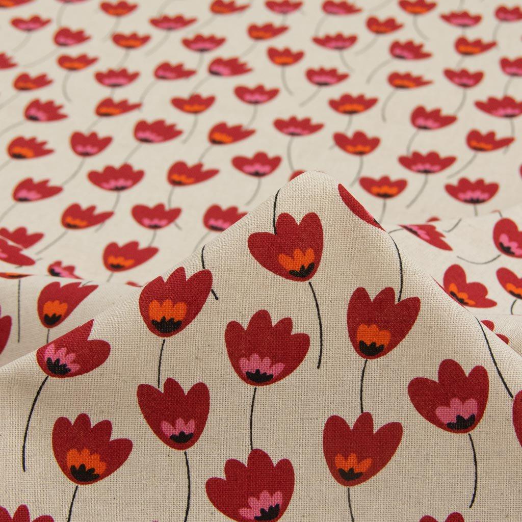 【cotton linen】Plants plants cotton linen canvas プランツプランツ コットンリネンキャンバス ナチュラルレッド 