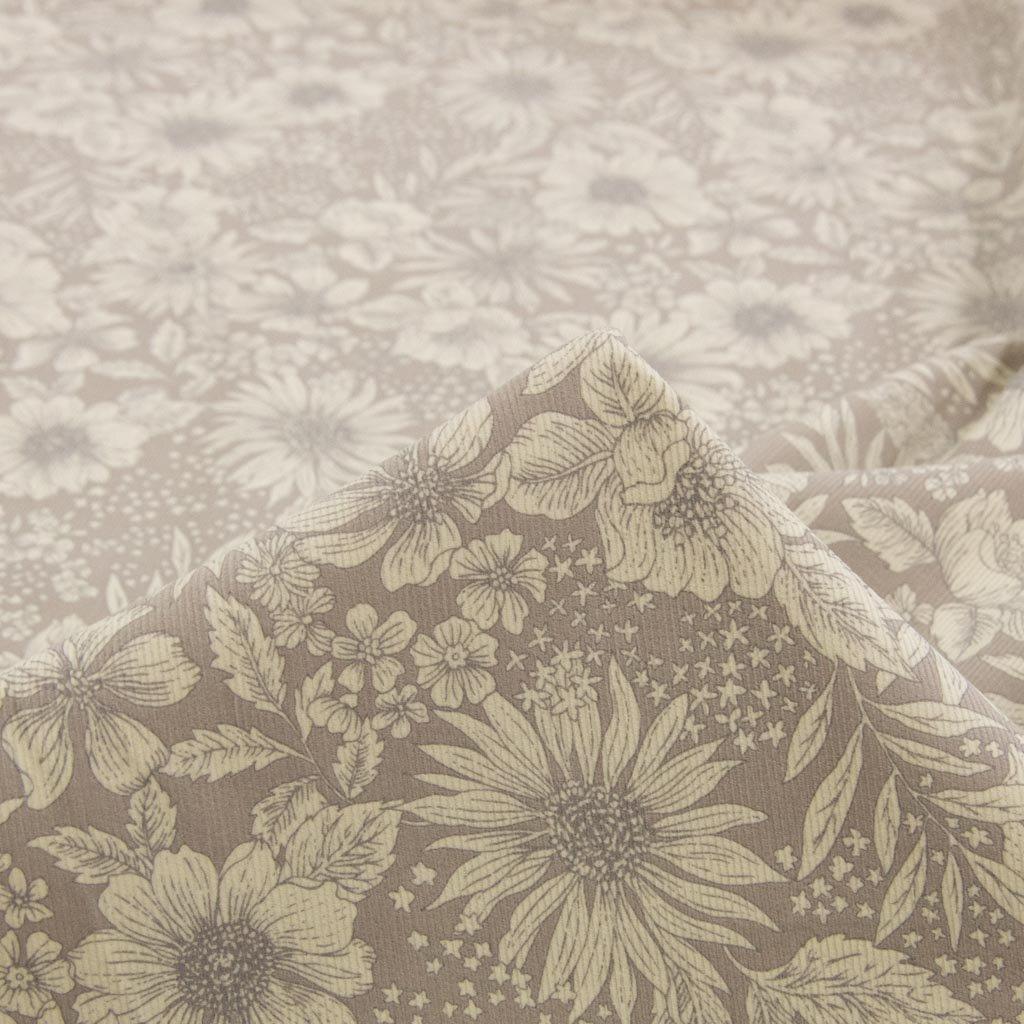 【コーデュロイ】classical flower corduroy|クラシカルフラワーコーデュロイ|コットンコーデュロイ|シャツコール|ライトグレー|