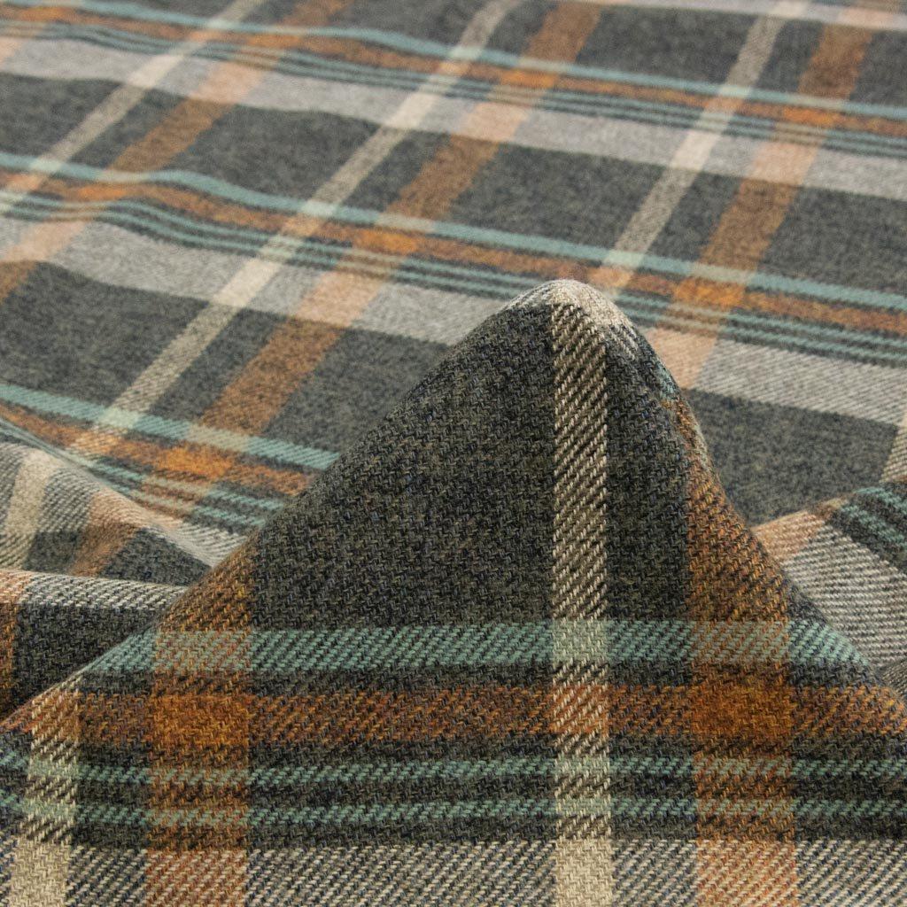 【cotton tweed】コットンで織ったハリスツイード風チェック コットンツイード タータンチェック ミックスグリーン 