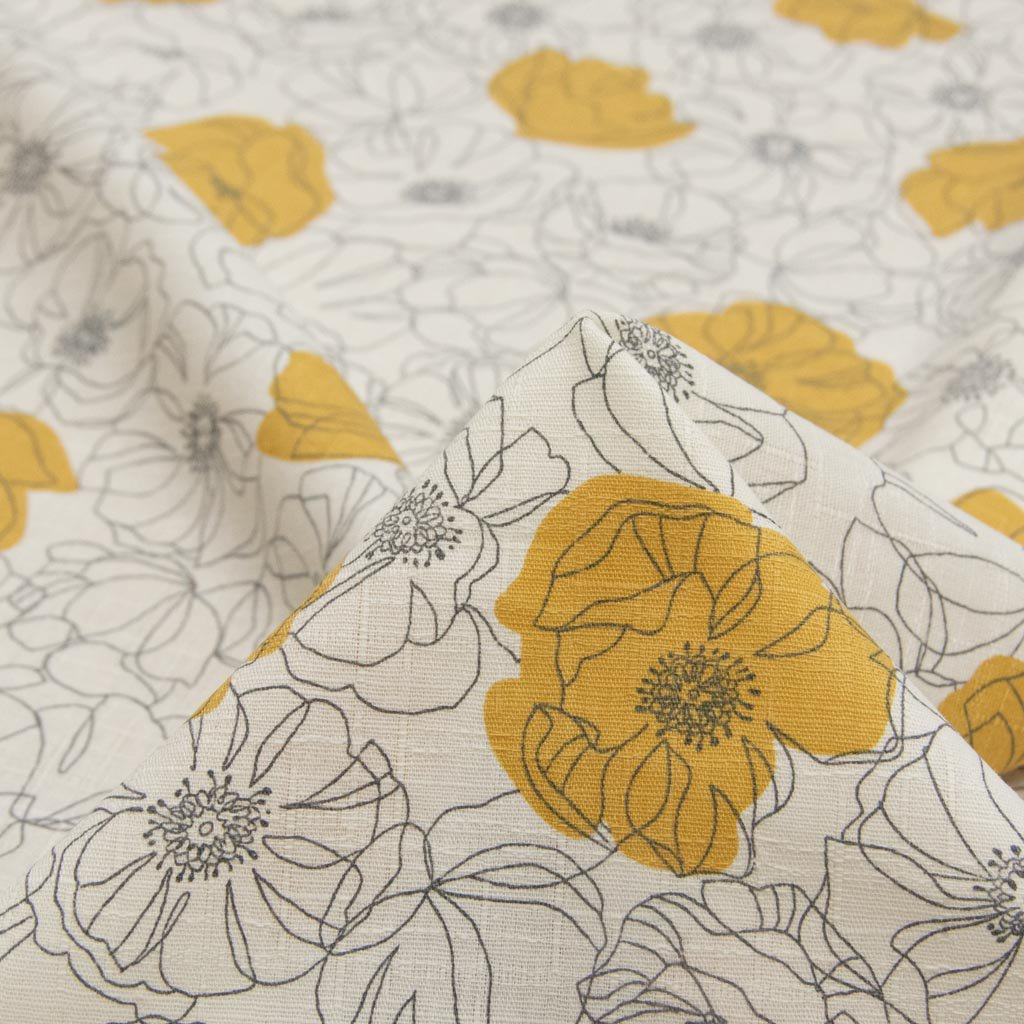 【cotton】 Sketch flower スケッチフラワー コットンサザンクロス 花柄 ポピー柄 オフホワイト <img class='new_mark_img2' src='https://img.shop-pro.jp/img/new/icons5.gif' style='border:none;display:inline;margin:0px;padding:0px;width:auto;' />