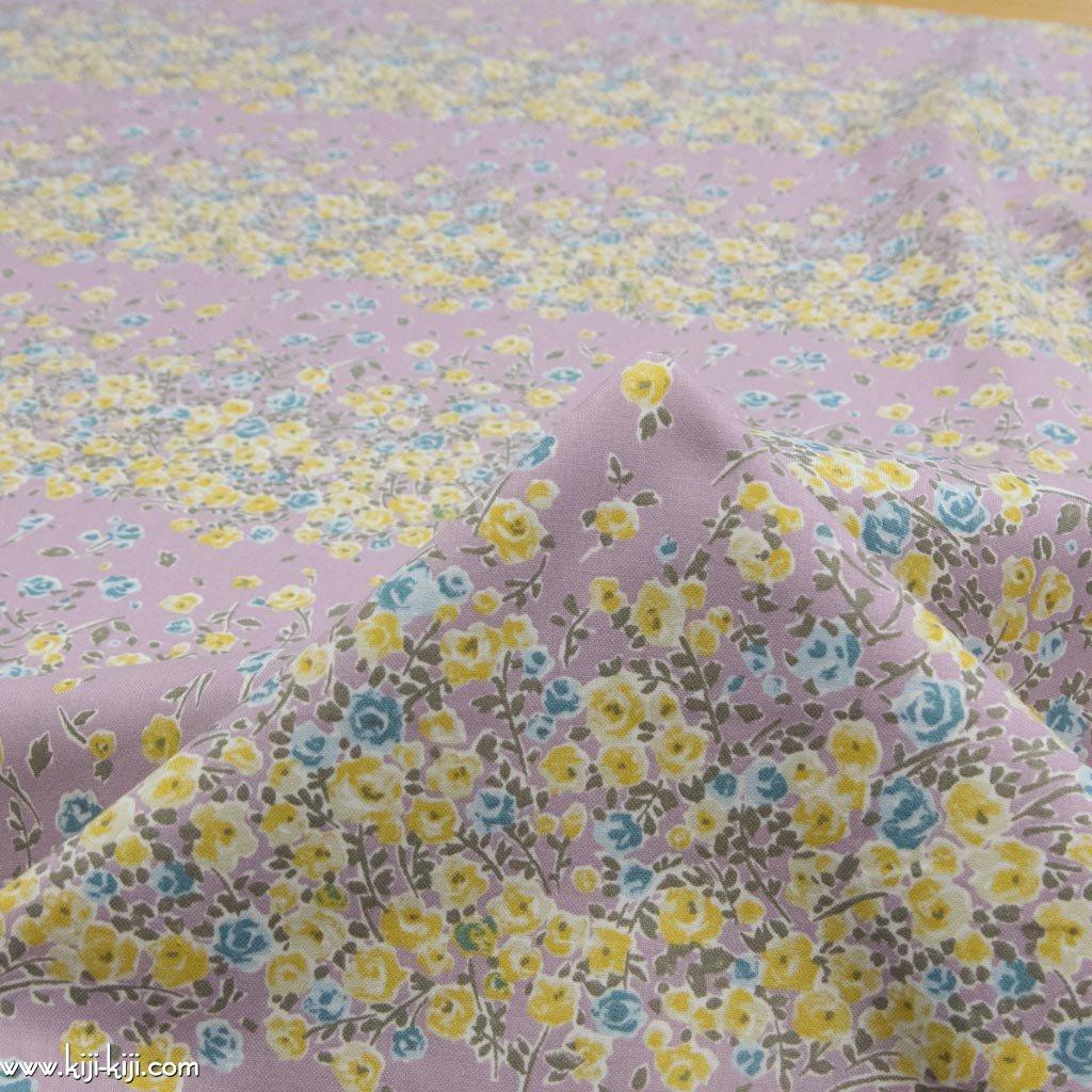 【cotton】 smoke color flower garden スモークカラーフラワーガーデン コットンシーチングプレミアム加工 スモークラベンダー <img class='new_mark_img2' src='https://img.shop-pro.jp/img/new/icons5.gif' style='border:none;display:inline;margin:0px;padding:0px;width:auto;' />