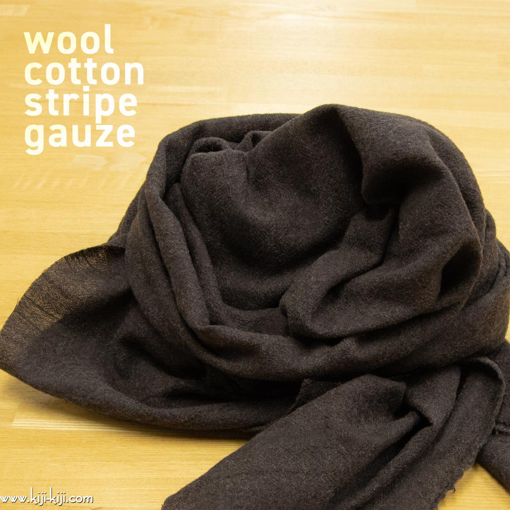 【sale】【コットンウール】cotton wool stripe gauze コットンウールガーゼ ストライプドビー 日本製 ブラウン <img class='new_mark_img2' src='https://img.shop-pro.jp/img/new/icons20.gif' style='border:none;display:inline;margin:0px;padding:0px;width:auto;' />